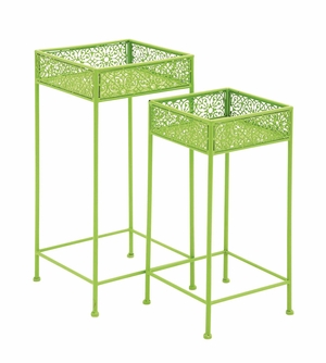 Attractive Styled Metal Plant Stand - 96990 by Benzara