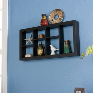 Attractive Styled Taylor Display Shelf Black by Southern Enterprises