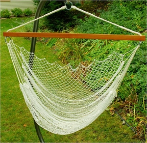 Attractively Crafted Hanging Nylon Net Chair by Algoma