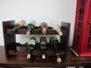 Augsburg Old Country Wine Rack, Antiqued Wonderful Stand