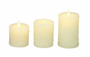 Awesome Set Of 3 Flameless Candle With Remote - 54881 by Benzara
