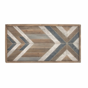 """Aztec Wooden Wall Panel Decor 46""""W, 23""""H - 94645 by Benzara"""