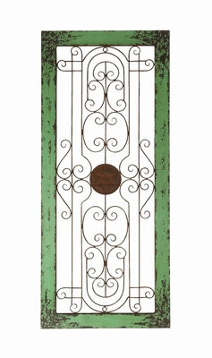 Wooden And Metal Wall Decor With Fine Attention To Details - 34856 by Benzara
