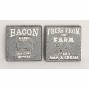 Bacon And Farm Fresh Sign,Assorted 2 - 59455 by Benzara