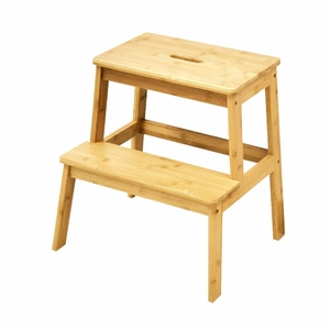Natural Styled Bamboo Stool By Urban Port