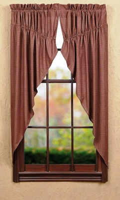 "Bancroft Prairie Curtain Lined Set of 2 63x36x18"" Brand VHC"