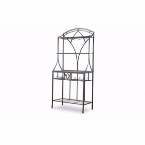 Baxton Studio Margaux Wood and Metal Transitional Baker?s Rack