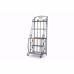 Baxton Studio Pomona Wood and Metal Transitional Baker?s Rack?High