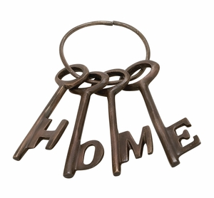 Beautiful Aluminum Bronze Home Key Set Of 4 - 37049 by Benzara
