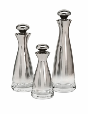 IMAX Beautiful Brightly Glass Bottles with Stopper (Set of 3)