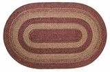 Beautiful Burgundy Tan Jute Rug Oval by VHC Brands