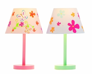 Beautiful Butterfly And Flower Accent Lamps  - 67692 by Benzara