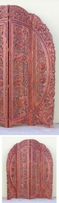 Beautiful Customary Styled Carved Screen Half Round by IOTC