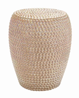Decorative Apple Ceramic Stool - 62164 by Benzara