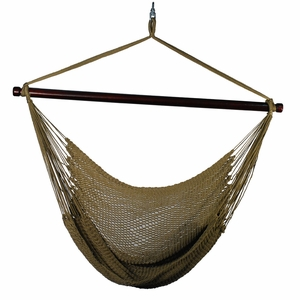 Beautiful Hanging Caribbean Rope Chair by Algoma