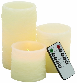 Beautiful Led Flameless Candle Remote Set - 54851 by Benzara