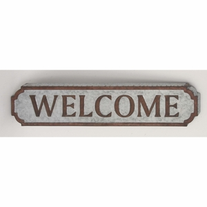 Beautiful Metal Welcome Wall Sign - 59466 by Benzara