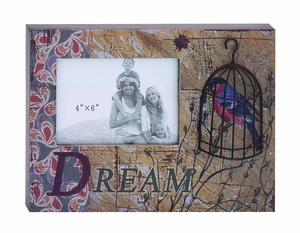 Beautiful Photo Frame Box With Inspirational Dream Message - 56128 by Benzara