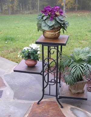 4D Concepts Beautiful Piece of Three Tier Slate Plant Stand