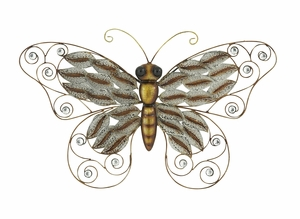 Beautifully Designed Metal Butterfly - 58574 by Benzara