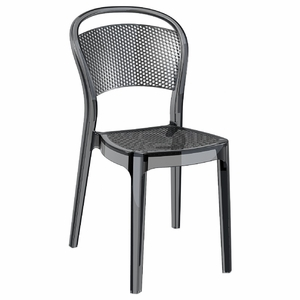 Bee Polycarbonate Dining Chair Transparent Black