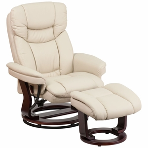 Flash Furniture Beige Leather Multipurpose Recliner