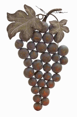 Weathered Metal Grape Wall Decor - 20245 by Benzara