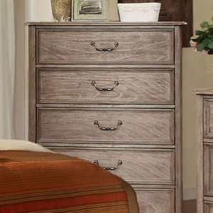 Belgrade I Transitional Style Chest, Rustic Natural Tone Finish