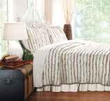 Greenland Home Fashions Bella Ruffle King Quilt Set, 105 Inch x 95 Inch