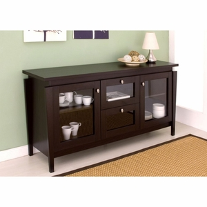 Bella Window Cabinet 2-Draw Transitional Stand