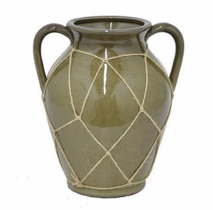 "Benzara 10.5"" Ceramic Flower Pot - 40843 by BENZARA"