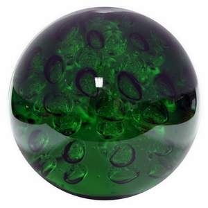 Benzara 23454 Green Large Glass Orb - 23454 by BENZARA