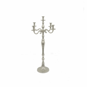 "Benzara 36"" Metal Aluminium Candle Holder - 37474 by BENZARA"