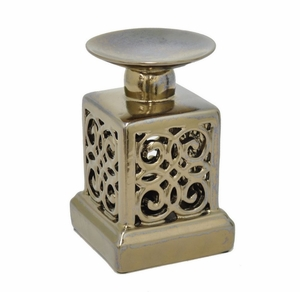 "Benzara 38970 7.25"" Ceramic Candle Holder - 38970 by BENZARA"