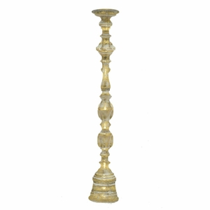Benzara 46202 Appealing Metal Candle Holder