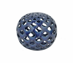 "Benzara 5.75"" Blue Small Ceramic Orb - 84998 by BENZARA"