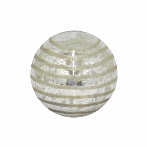 "Benzara 5"" Silver Glass Orb - 70916 by BENZARA"