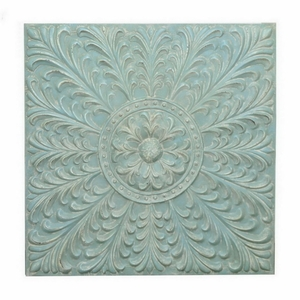 Benzara 73588 Metal Wall Decoration, Blue - 73588 by BENZARA