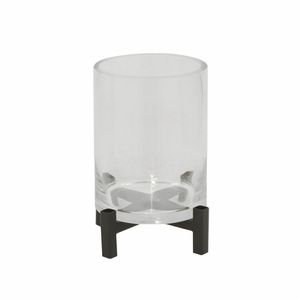 Benzara 76647 Exquisite Metal Candle Holder with Glass