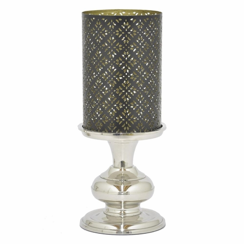 Buy Benzara 82751 Metal Candle Holder With Eatching