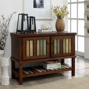 Beverly Country Style Hallway Cabinet, Brown Cherry