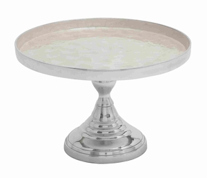 Contemporary Big Size Aluminum Cupcake Stand In Silver Finish - 22033 by Benzara