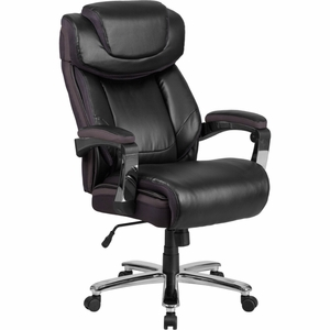 Big & Tall Black Leather Chair - GO-2223-BK-GG by Flash Furniture