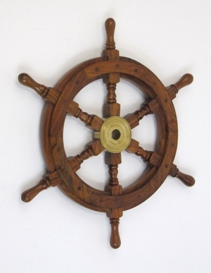 Bilbao Ship Wheel Awe-inspiring Grand Nautical Decor