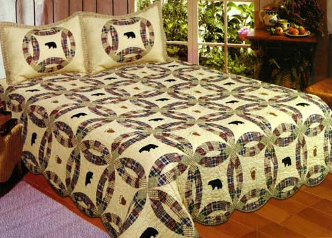 American Hometex 5688-Q Black Bear Quilt Queen Size 90 Inch X 90 ... : handmade cotton quilts - Adamdwight.com