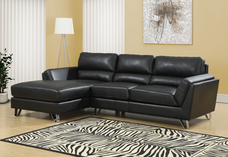 Monarch specialties inc mhs i 8210bk black bonded leather for Wild orchid furniture
