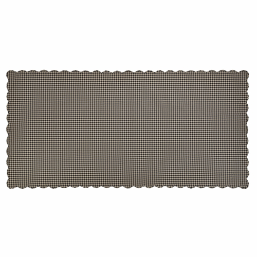 Nancys nook vhc 20191 black check scalloped table cloth for Table 60x120