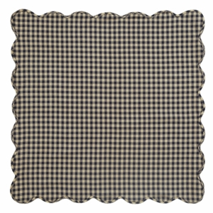 Black Check Scalloped Table Topper 40x40