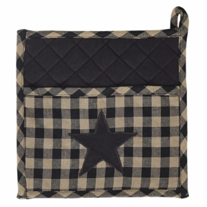 Black Star Pot Holder 9x9