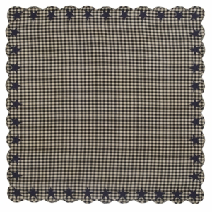 Black Star Scalloped Table Cloth 60x60